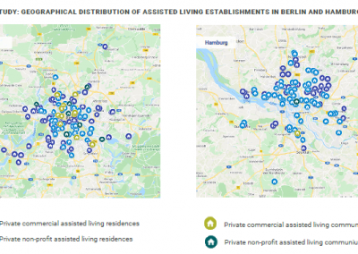 Case study: geographical distribution of assisted living establishments in Berlin and Hamburg