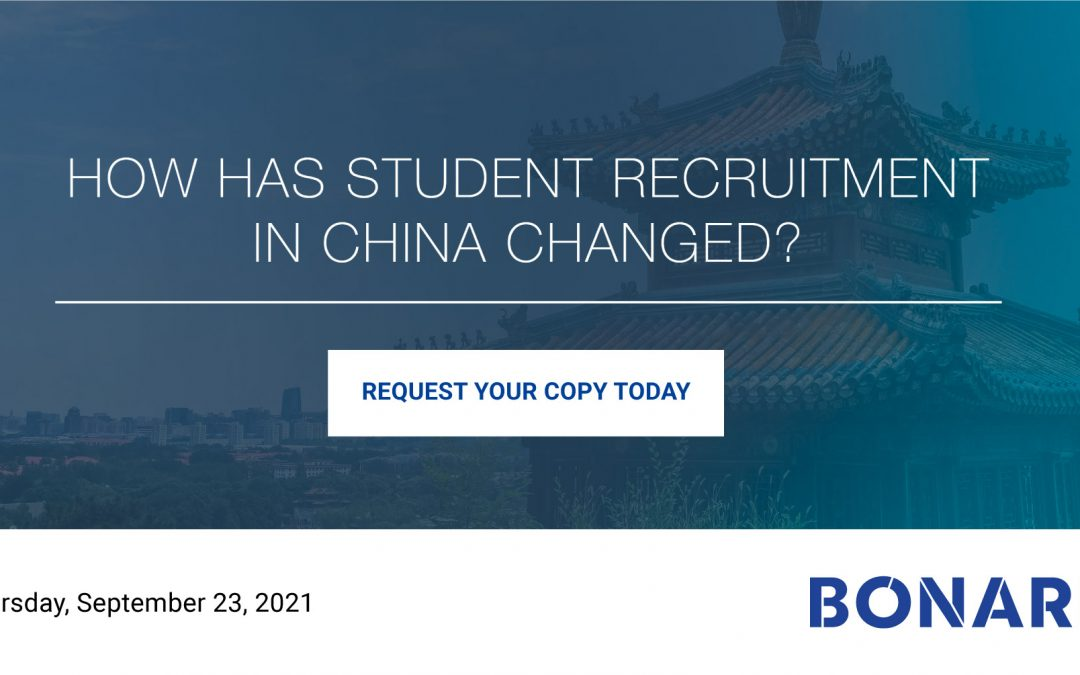 How has student recruitment in China changed?